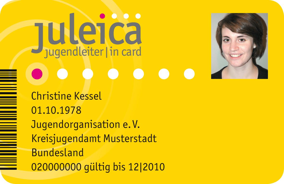 Die Jugendleiter/in-Card, kurz Juleica, ist ein bundesweit einheitlicher Ausweis für Jugendleiterinnen und Jugendleiter.