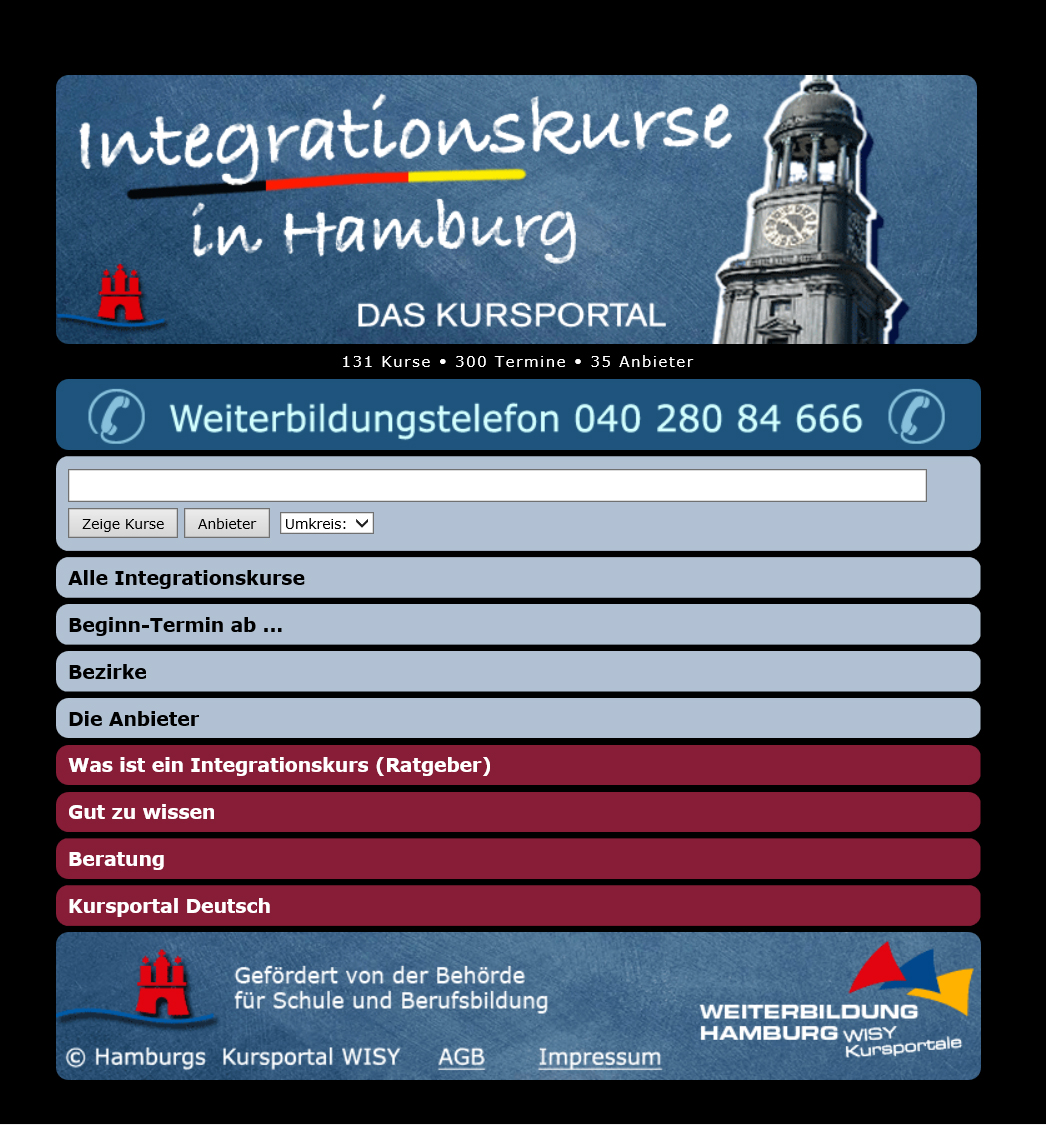 Integrationskurse Hamburg Hamburgde
