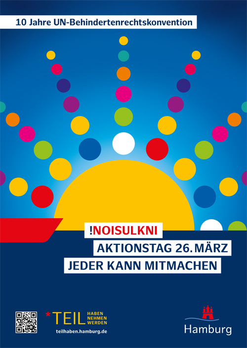Plakat für den Tag der Inklusion am 26. März 2019