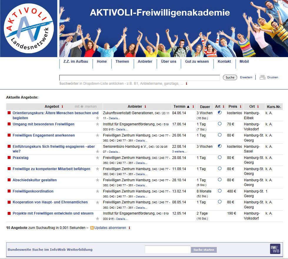 Qualifizierung / Fortbildung - hamburg.de