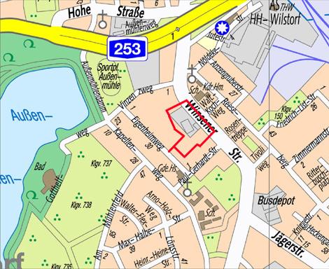 Lage des Bebauungsplangebiets Wilstorf 37
