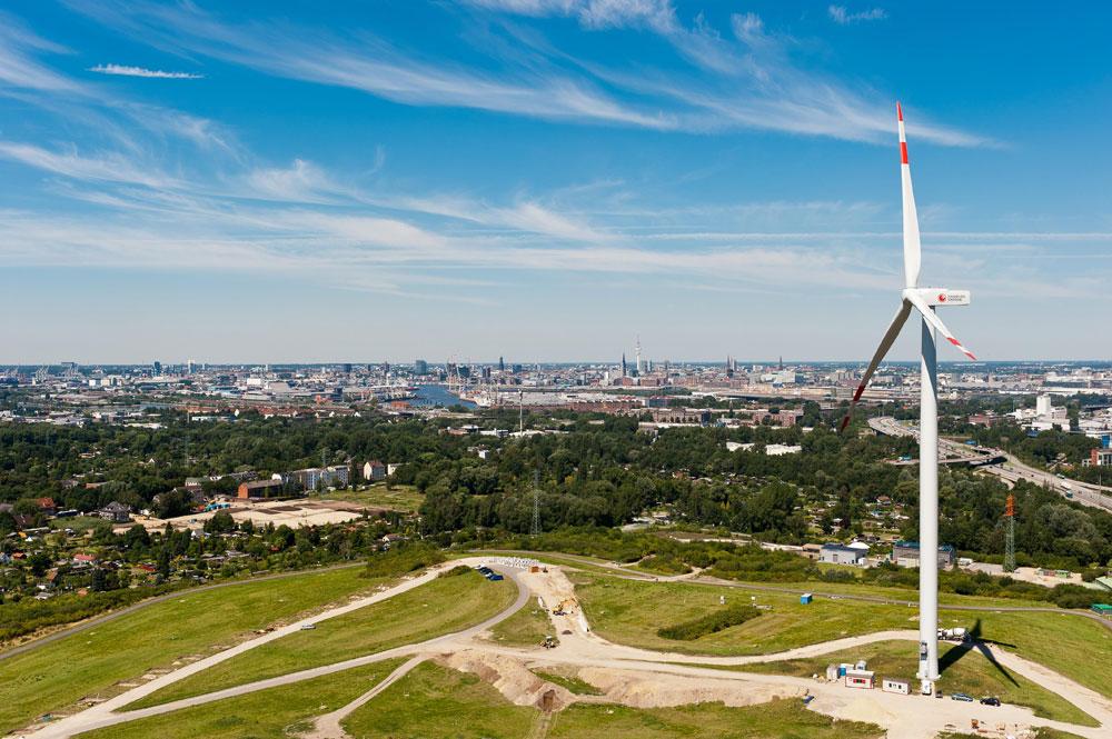 Windkraftanlage hamburg