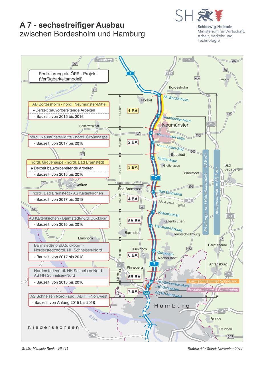 Der a7 ausbau in schleswig holstein for Ausbau a7 zeitplan