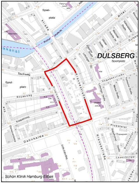 bebauungsplan entwurf dulsberg 6 barmbek s d 7. Black Bedroom Furniture Sets. Home Design Ideas