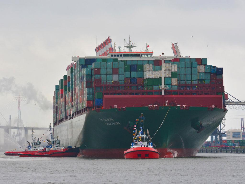 erstes containerschiff in hamburg