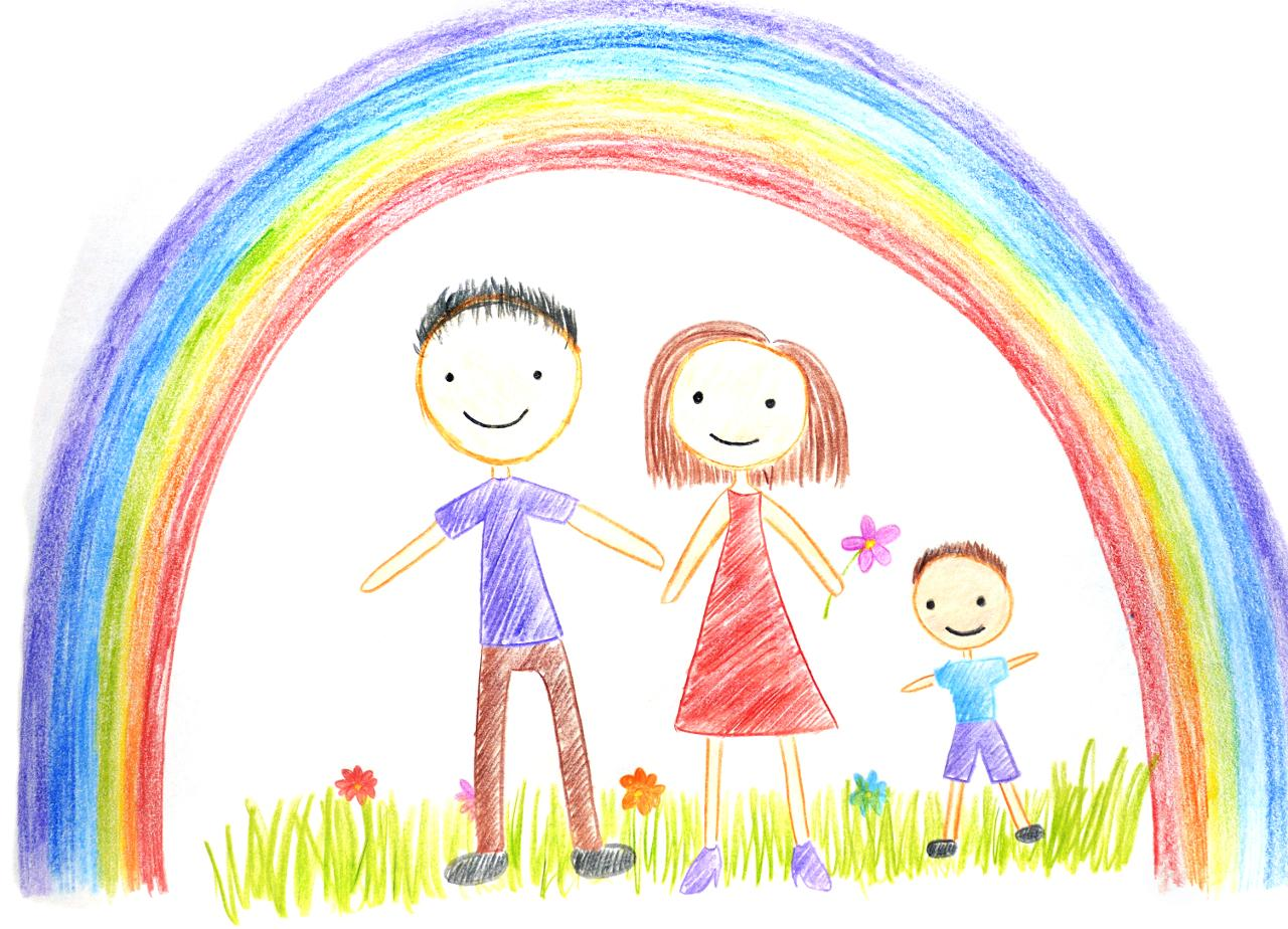 Gemalte Kinderbilder familie hamburg de