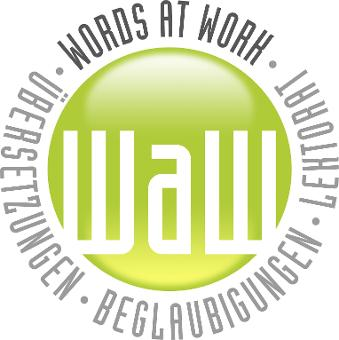WAW – Words at Work - Firmenlogo