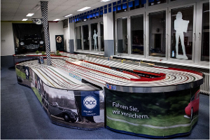 Slot Car Autorennbahn im Renncenter Hamburg