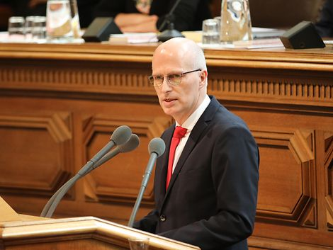 Regierungserklärung Peter Tschentscher / Senatskanzlei / Julian Boy