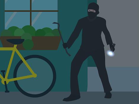 Einbrecher, Fenster, Wohnung