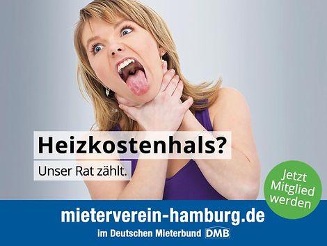 Mieterverein_Kampagne Q4-2018_Heizkostenhals Mann / Mieterverein zu Hamburg