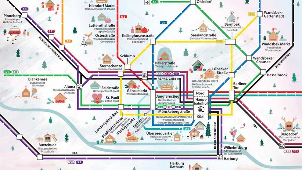 hvv karte hamburg Mit dem HVV zum Weihnachtsmarkt   hamburg.de