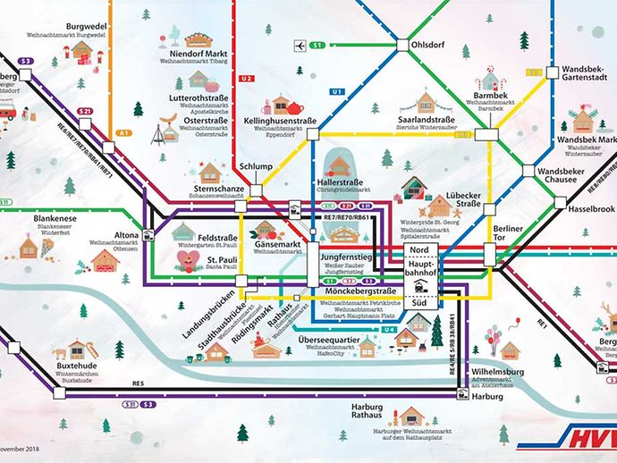 hvv karte Mit dem HVV zum Weihnachtsmarkt   hamburg.de