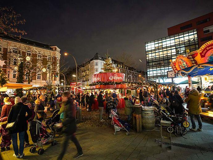 Weihnachtsmarkt Heiligabend.Weihnachtsmarkt Weihnachtsbummel Eppendorf Hamburg De