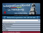 Screenshot des Kursportals WISY zum Thema Integrationskurse