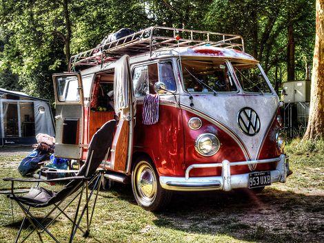 VW Bus, Camping