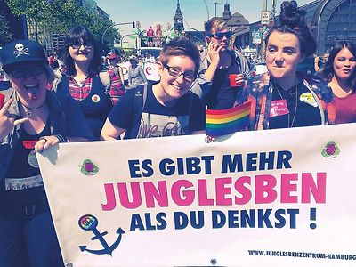 Come as you are! Be out and proud! Young Lesbian*s! We are more than you think""