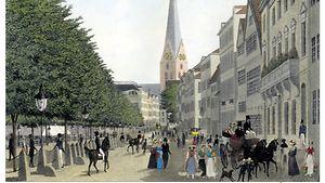 Der Jungfernstieg / Christoffer und Peter Suhr / historic-maps.de