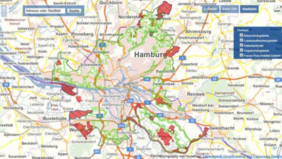 Schutzgebietskarte Hamburg De