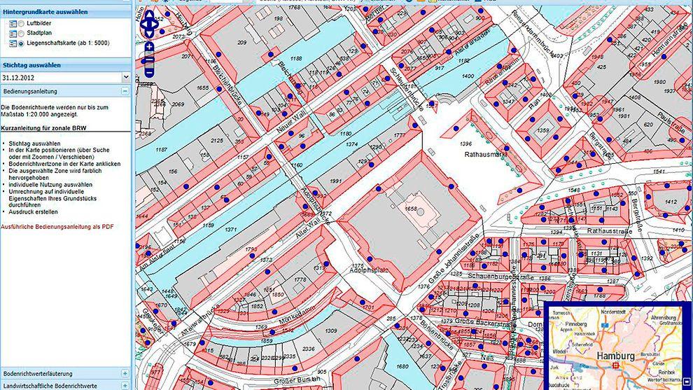 Boris Hh Die Interaktive Bodenrichtwertkarte Von Hamburg