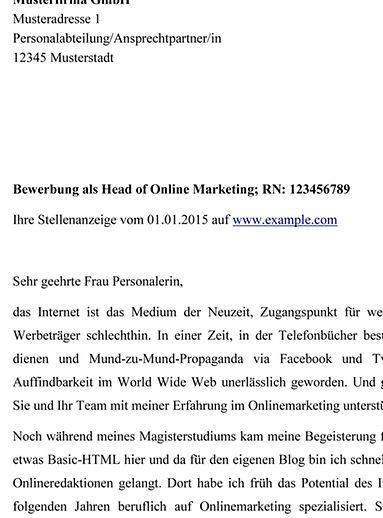 Anschreiben für Bewerbungen - die besten Tipps - hamburg.de