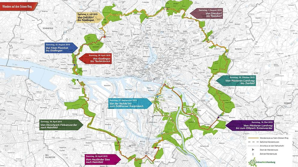 grüne karte hamburg Wandern auf dem Grünen Ring   hamburg.de