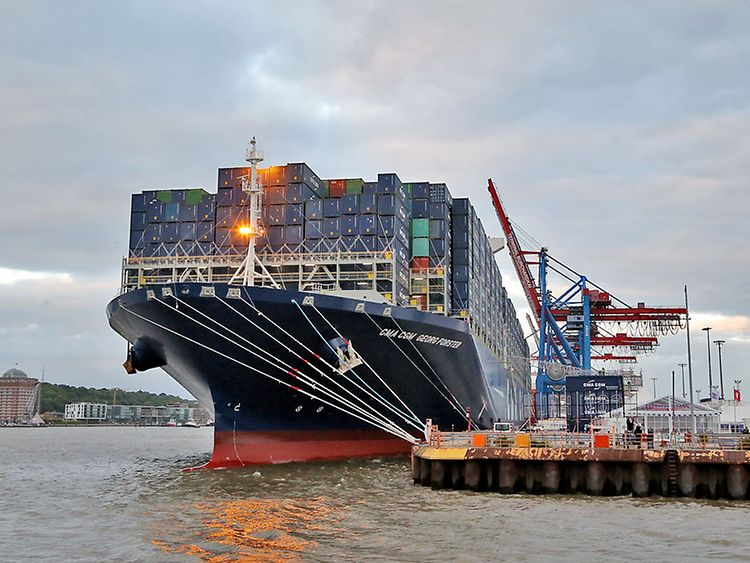 Taufe der CMA CGM Georg Forster