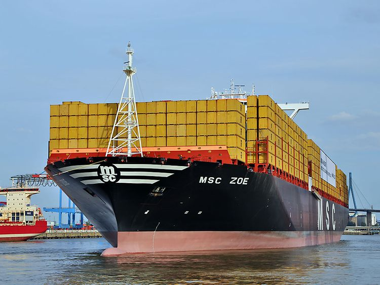 "Taufe der ""MSC Zoe"" in Hamburg am 2. August 2015"