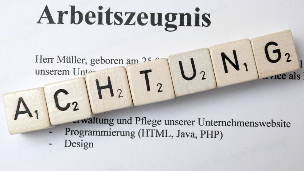 Image result for arbeitszeugnis