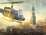 Helikopter vor Hamburg