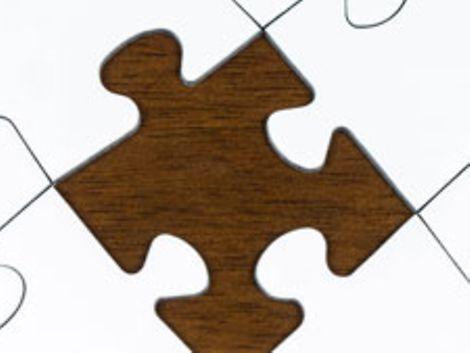 Puzzle mit fehlendem Puzzleteil