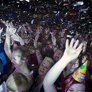 Feiernde Menschenmengen bei Konzert  / Miroslav Menschenkind