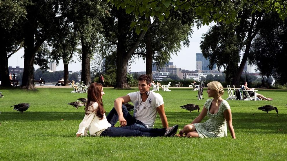 Young people in the Park