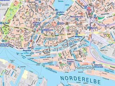 Stadtplan Von Hamburg Detaillierte Gedruckte Karten Von Hamburg