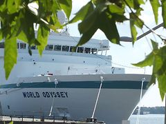 Die World Odyssey am Cruise Center in der HafenCity