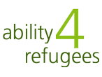 Logo Ability 4 Refugees / ability 4 refugess / Anderas Mohn Stiftung